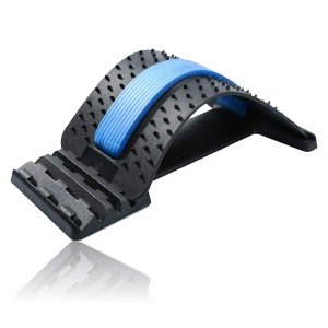 ABINECS 背中 ストレッチャー 背筋 伸ばし 猫背 姿勢 矯正 腰痛 ストレッチ ツボ押し 指圧 (ブルー)|stonline
