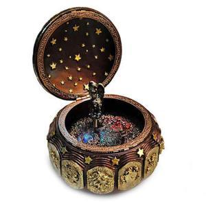 フェリモア オルゴール 星空 星座 回転 LEDライト 音楽 女神が回る 天使 12星座 (しし座)|stonline