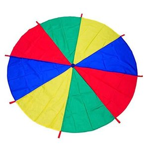 DM FU パラバルーン プレイパラシュート 幼稚園 保育園 運動会 室内 室外 ゲーム 4色 2M 3M 4M選択可 収納袋付き (3M)|stonline