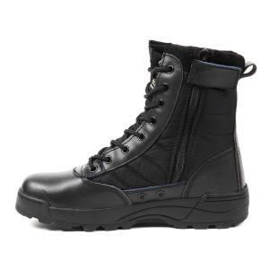 R-STYLE ミリタリースタイルな足下 サバゲー にも YKK監修 第三世代 サイドジッパー タクティカル ブーツ (ブラック 41(25.5cm))|stonline