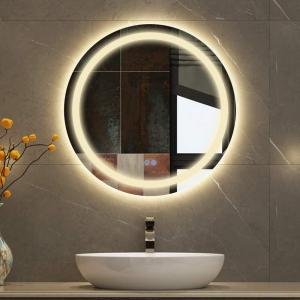 Bacoer LED ミラー 鏡 壁掛け鏡 女優ミラー 化粧鏡 浴室鏡 円形 風呂鏡 防曇鏡 メイクアップ 化粧台 洗面台に適用(直径60cm) stonline