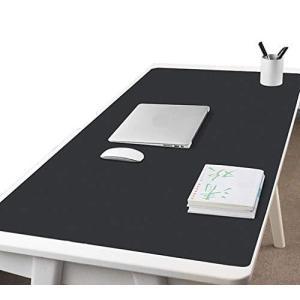 NOEINA オフィス用品 PUレザー デスクマット マウスマット PC机 学習机 パソコンマット ノートパソコンマット 大型 多機能 防水 耐久性 ブラック 120×60cm|stonline