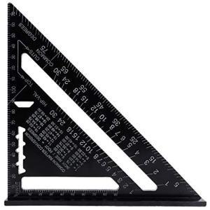 AmzBarley 三角定規 製図 三角スケール アルミ合金 トライアングルルーラー 直角 測定 建築用定規 三角形 90度45度 幾何学 木工用 作図ツール 製図用品 建築士|stonline