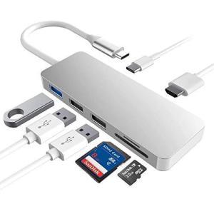 USB C ハブ 7-in-1 USB?Type C?ハブ ウルトラスリム USB C MacBook MacBook Pro/Air/ChromeBook/Surface GO/Pro7等対応 ドッキングステーション 4K HDMI出力 PD|stonline