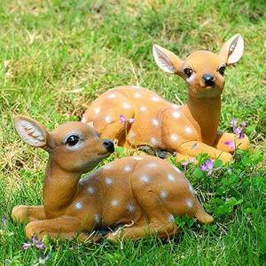 【2匹セット】 鹿の置物 ガーデニング雑貨 鉢植え ガーデンオーナメント 庭 オブジェ 置物 飾り物 絵本 かわいい 動物 森 おしゃれ インテリア雑貨 ガーデニング stonline