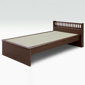 ブラックアッシュ無垢材を使った和風モダンな畳ベッドです。ベッドフレームは大川家具、畳は国産とこだわり...