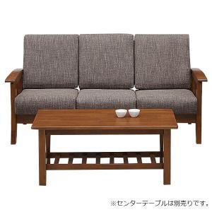 ソファ 三人掛け リビングソファー ファブリック 三人用 木製 北欧風|store-anju