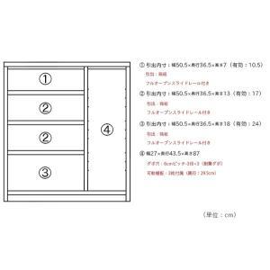 キッチンカウンター 幅90cm 完成品 間仕切り 収納 食器棚 レンジ台 国産 北欧|store-anju|03