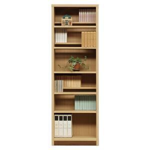 書棚 本棚 薄型 本収納 収納家具 完成品 段違い 幅60cm store-anju