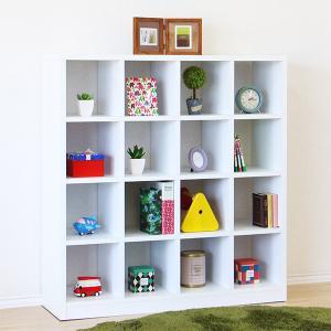 オープンラック 飾り棚 完成品 収納棚 幅110cm 木製シェルフ ホワイト|store-anju