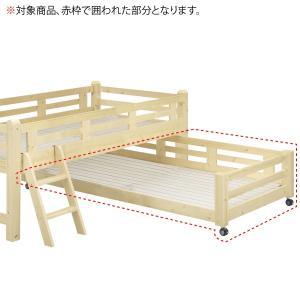 シンプルで飽きのこないデザインのジュニアベッド。 ※対象商品 赤枠で囲われた部分になります。 ※マッ...