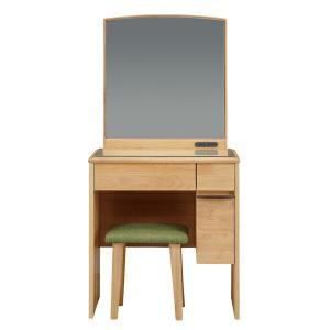 ドレッサー 鏡台 化粧台 椅子付き 1面鏡 コスメ収納 おしゃれ store-anju