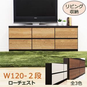ベンチチェスト 完成品 木製 ローチェスト 収納 幅120cm 2段 store-anju
