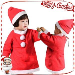 秋物早割セール☆短納期 サンタ コスプレ 子供 女の子 ハロウィン 衣装 長袖 ワンピース 帽子 コスチューム キッズ 子ども かわいい サンタクロ|store-candyz