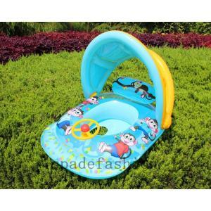赤ちゃん浮き輪 屋根付き浮き輪 ベビーボート ベビー かわいい 幼児 浮き輪 足入れ浮き輪 赤ちゃん...