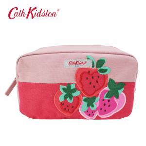 キャスキッドソン ポーチ 105353916692102 Box Cm Bag Sweet Strawberry いちご 化粧ポーチ ペンケース Cath Kidston ab-374200|store-goods
