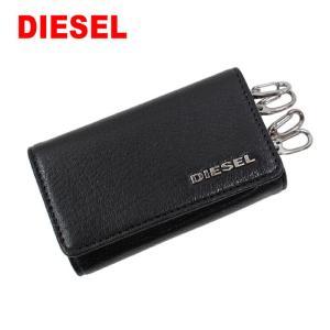 ディーゼル キーケース X06640 P3043 H0999 BLACK ブラック 6連フック キーリング ロゴプレート DIESEL ab-440000|store-goods