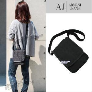 アルマーニジーンズ バッグ 6210 ロゴモチーフ織込み デザイン かぶせ開閉 斜め掛け ショルダーバッグ ARMANI JEANS アルマーニ ジーンズ ag107800|store-goods