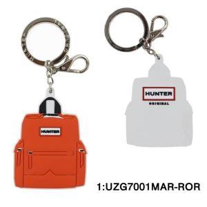 ハンター キーホルダー UZG7001MAR-ROR HUNTER リュックデザイン キーチャーム オレンジレッド KEY key ag-217500|store-goods