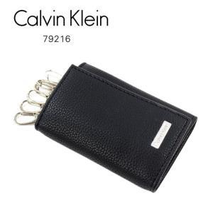 カルバンクライン キーケース 79216 Calvin Klein 6連フック 牛革 ブラック Key ag-217900|store-goods