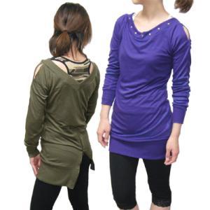 肩チラ見せ!スタッツカットソー バックスタイルファスナー ag-5293|store-goods