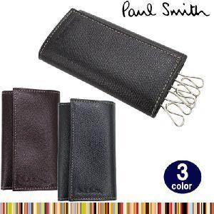 ポールスミス キーケース 1981 W554 2カラー レザー 6連フック キーケース PAUL SMITH ポールスミス ag-604000 store-goods