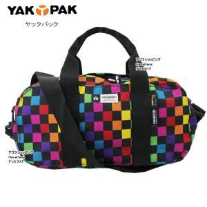 YAKPAK ヤックパック バッグ YP0603 2Way スモールサイズキューブデザイン マルチカラー 総柄 ショルダー トート ダッフルバック 男女兼用 ag-726900|store-goods