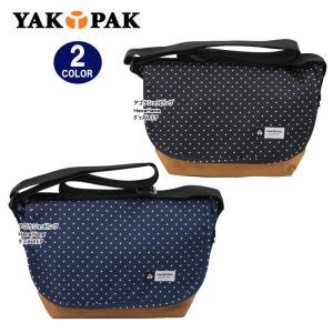 YAKPAK ヤックパック バッグ YP0105 ドットデザイン 底スエード ミニメッセンジャー ショルダー バック 男女兼用 ag-727300|store-goods
