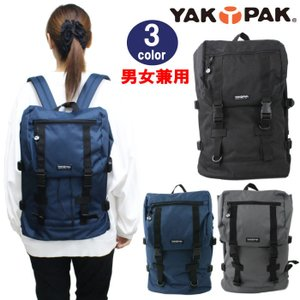 YAKPAK ヤックパック バッグ リュック YP2036 上部ファスナーポケット付き 内部巾着絞りデザイン デイバッグ パック バックパック 全3カラー 男女兼用 ag-792300|store-goods