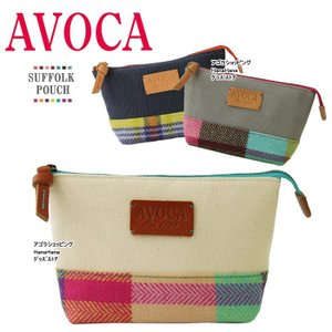 AVOCA アヴォカ ポーチ SUFFOLK POUCH サフォーク ポーチ ウール 台形型 化粧ポーチ コスメ ag-806300|store-goods