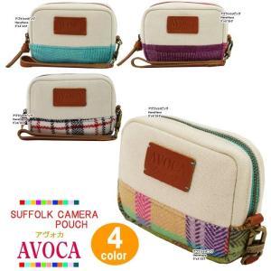 AVOCA アヴォカ ポーチ 18122 SUFFOLK CAMERA POUCH ウール カメラポーチ 四角型 化粧ポーチ コスメ ag-806900|store-goods