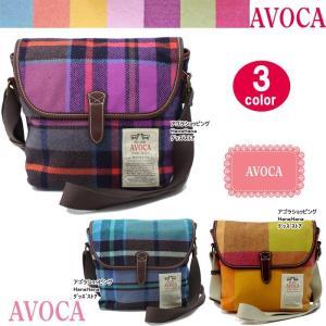 AVOCA アヴォカ ショルダー バッグ 2869 101124 101127 DUBLIN SHOULDER BAG ウール×牛革 チェック柄 ハンドバッグ ag-817000|store-goods