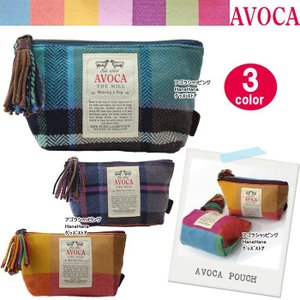AVOCA アヴォカ ポーチ 3234 101125 101120 DUBLIN POUCH ポーチ ウール 台形型 化粧ポーチ コスメ ag-819700|store-goods
