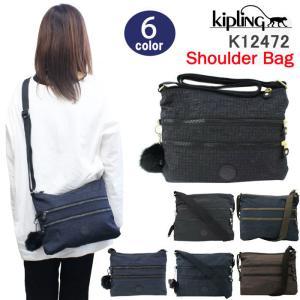 キプリング バッグ K12472 Kipling フロント2段ファスナーポケット 前面ロゴプレート Alvar Bp ショルダーバッグ ナイロン ag-823100a store-goods