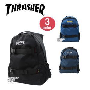 THRASHER スラッシャー バッグ リュック THRCD-501 ダブルベルト サイドメッシュポケット付き デイバッグ パック リュックサック 男女兼用 ag-837300|store-goods