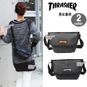 THRASHER スラッシャー バッグ THRPN-3901 底ロゴデザイン メッセンジャー ショルダーバッグ 男女兼用 ag-837500|store-goods