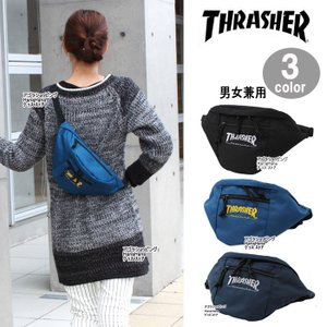THRASHER スラッシャー バッグ ウエストバッグ ポーチ THRCD-200 ボディバッグ コーデュラナイロン 男女兼用 ag-837600|store-goods