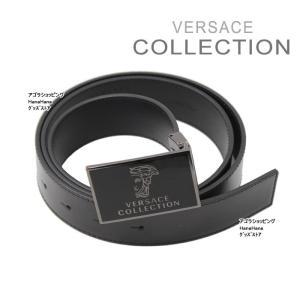 ヴェルサーチ コレクション ベルト V910173 ブラック メデューサデザイン フリーサイズ メンズ VERSACE COLLECTION ヴェルサーチコレクション ag-842900|store-goods