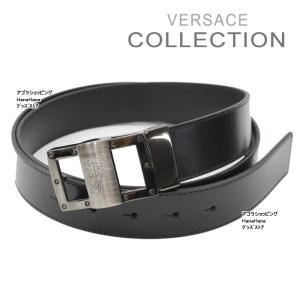ヴェルサーチ コレクション ベルト V91S174 ブラック センターメデューサデザイン フリーサイズ メンズ VERSACE COLLECTION  ag-843000|store-goods