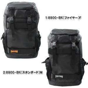 THRASHER スラッシャー バッグ リュック THRPN-8900 ボードバックパック かぶせ ダブルベルト サイドメッシュポケット付き リュックサック 男女兼用 ag-853800|store-goods