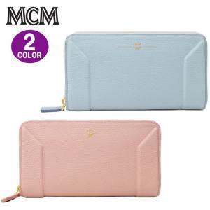 MCM エムシーエム 財布 ラウンドファスナー 型押しレザー 長財布 ag-854100|store-goods