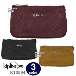 キプリング ポーチ K13594 Kipling Creativity L サテン ロゴマーク レトロモダンパターン ペンシルケース 化粧ポーチ ag-859000 store-goods