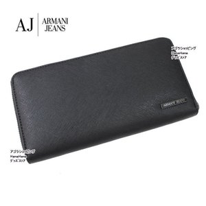 アルマーニジーンズ 長財布 938542 CC991 20 NERO 型押しデザイン ラウンドファスナー 財布 メンズ ARMANI JEANS ag-866300|store-goods