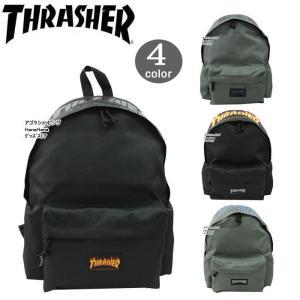 THRASHER スラッシャー バッグ リュック ファイヤー ロゴ タグ THRFL-5900 フロントポケット デイバッグ パック バックパック 男女兼用 ag-866400|store-goods