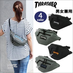 THRASHER スラッシャー バッグ ウエストバッグ ファイヤー プリント ロゴ ポーチ THRFL-3900 ボディバッグ 男女兼用  ag-866500|store-goods