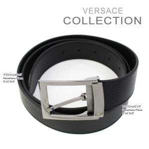 ヴェルサーチ コレクション ベルト V910178 VM00220 V000R ブラック 型押ハーフメデューサ フリー メンズ VERSACE COLLECTION ag-885400|store-goods