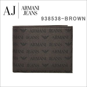 アルマーニジーンズ 折り財布 938538 CC996 152 MARRONE ブラウン PVCナイロン モノグラム 二つ折り 財布 メンズ ARMANI JEANS ag-887000|store-goods