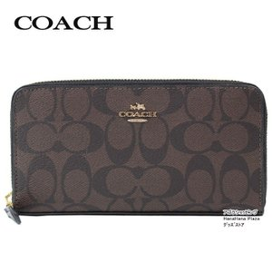 コーチ COACH 長財布 F54632 IMAA8 ブラウン ブラック Brown Black コーチ シグネチャー ラウンドファスナー 【アウトレット】ag-896000 store-goods