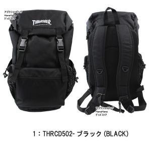 THRASHER スラッシャー バッグ リュック THRCD502 バックパック かぶせ ダブルベルト サイドメッシュポケット付き リュック ag-897300|store-goods