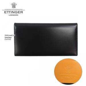 エッティンガー 財布 BH806AJR-ブラック×内部マスタード BRIDLE COAT WALLET ブライドルレザー 長財布 ETTINGER 二つ折り 小銭入れなし メンズ ag-917500|store-goods